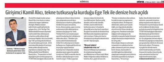 Girişimci Kamil Alıcı, tekne tutkusuyla kurduğu Ege Tek ile denize hızlı açıldı